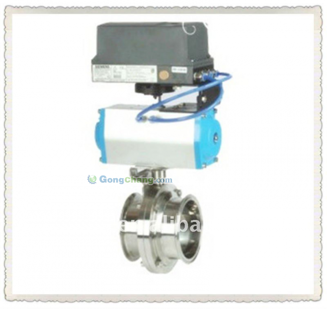 Pneumatic Butterfly Valves With Positioner