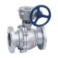 worm gear float ball valve(ball valve,gear ball valve,cast steel ball valve)