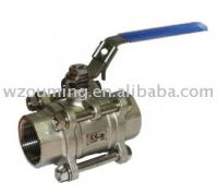DIN structure 3 pc  ball valve(stainless steel ball valve,cast ball valve)