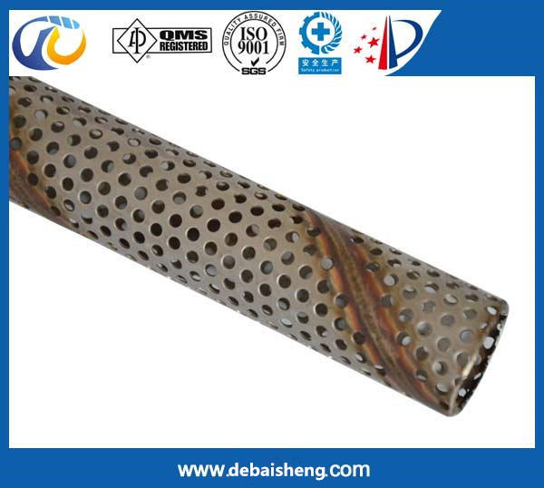 Punching spiral filter tube